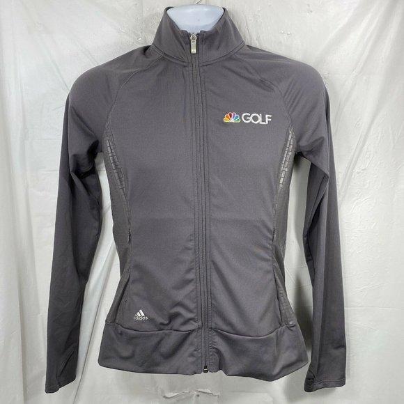 Adidas NBC Golf Womens XS Gray Full Zip High Neck